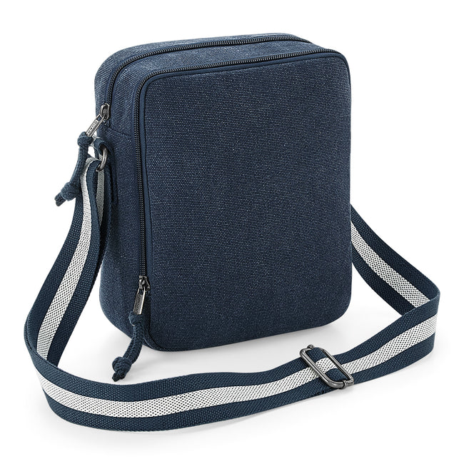 Vintage Oxford Navy - Front - Quadra Vintage Canvas Mini Reporter Bag