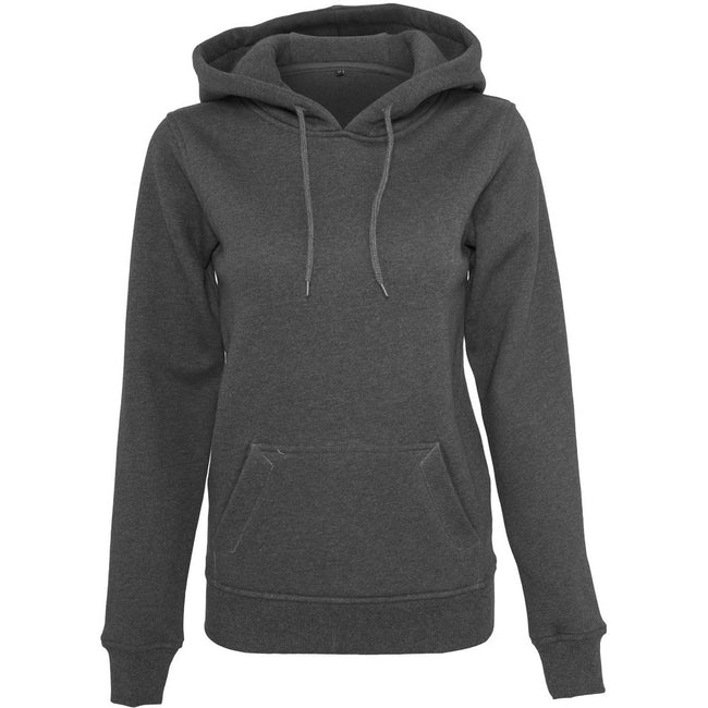 Charcoal - Front - Build Your Brand Womens Heavy Hoody-Sweatshirt