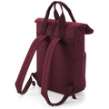 Burgundy - Back - BagBase Twin Handle Roll-Top Backpack