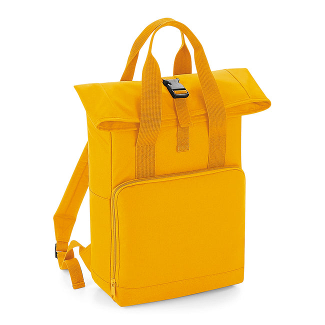 Mustard - Front - BagBase Twin Handle Roll-Top Backpack