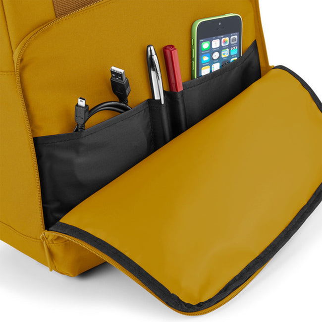 Olive Green - Front - BagBase Twin Handle Roll-Top Backpack