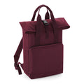 Burgundy - Front - BagBase Twin Handle Roll-Top Backpack