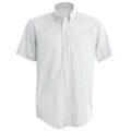 White - Front - Kariban Mens Short Sleeve Easy Care Oxford Shirt