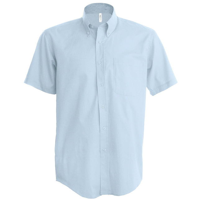 Oxford Blue - Front - Kariban Mens Short Sleeve Easy Care Oxford Shirt
