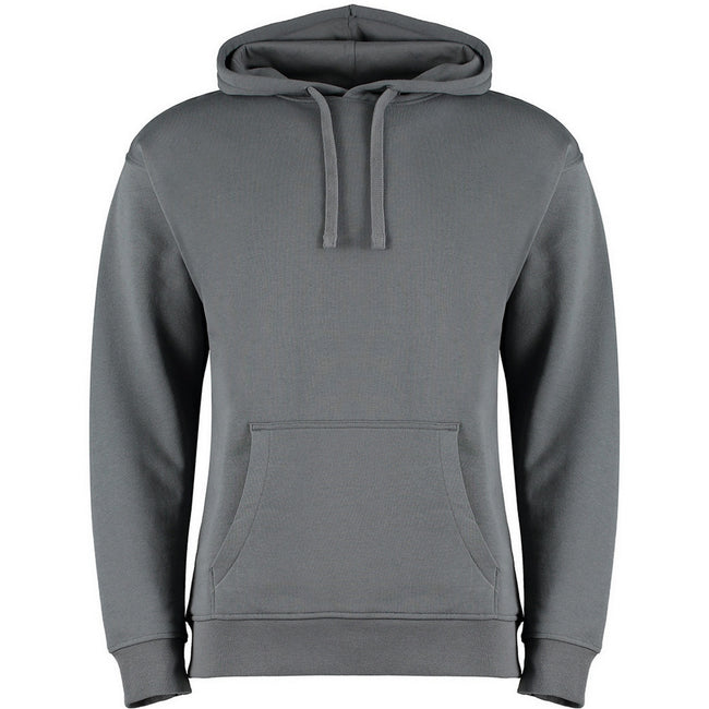 Dark Grey Marl - Back - Kustom Kit Adults Unisex Regular Fit Hoodie