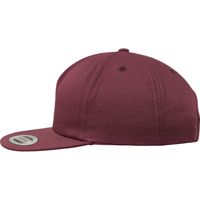 Maroon - Side - Yupoong Flexfit Unisex Unstructured 5 Panel Snapback Cap