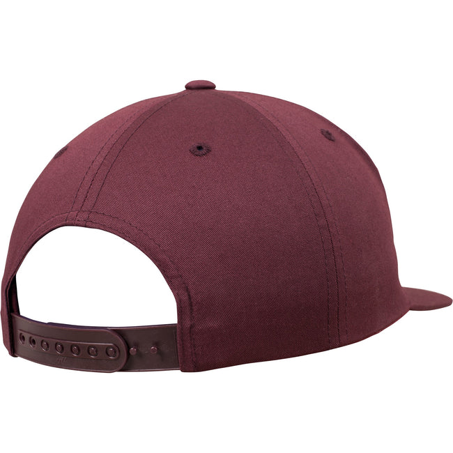 Maroon - Pack Shot - Yupoong Flexfit Unisex Unstructured 5 Panel Snapback Cap