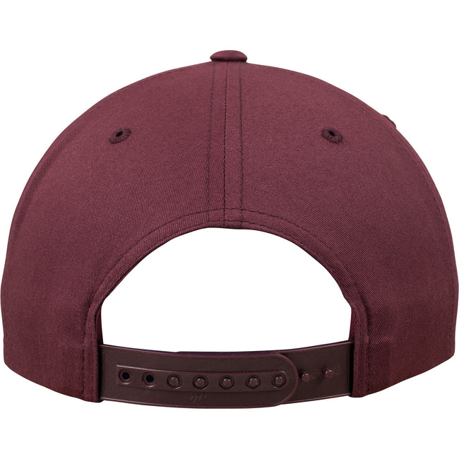 Maroon - Close up - Yupoong Flexfit Unisex Unstructured 5 Panel Snapback Cap