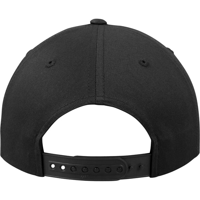 Black - Close up - Yupoong Flexfit Unisex Unstructured 5 Panel Snapback Cap