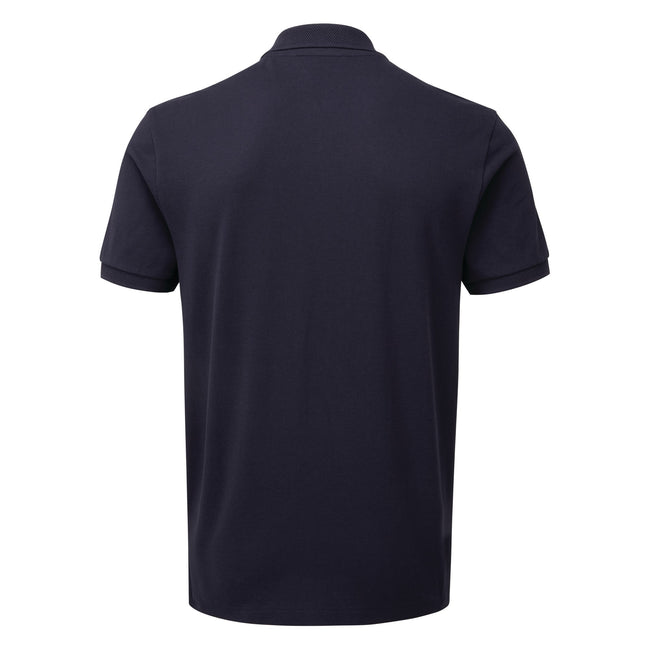 Navy - Back - Asquith & Fox Mens Zip Polo Shirt