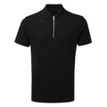 Navy - Side - Asquith & Fox Mens Zip Polo Shirt