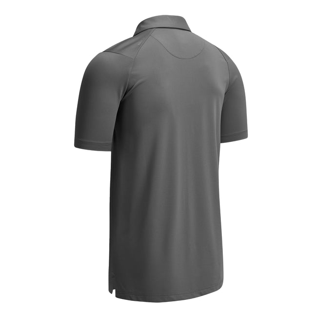 Asphalt Grey - Front - Callaway Mens Swing Tech Solid Colour Polo Shirt