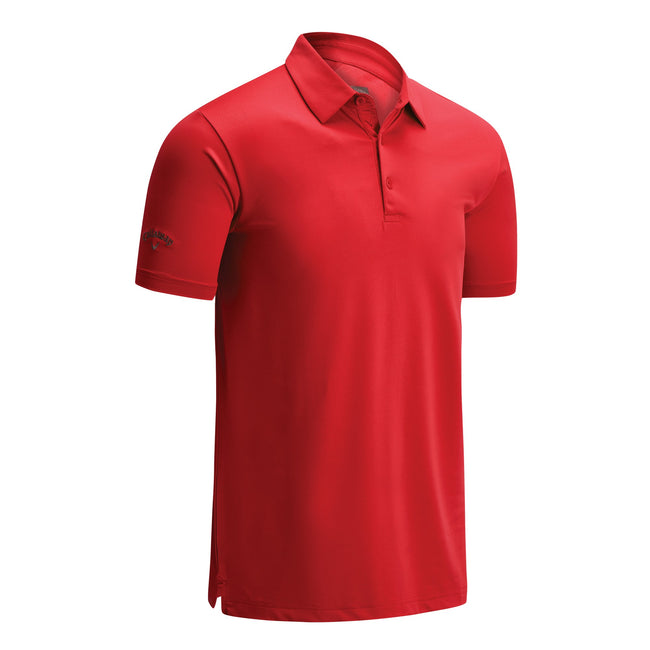 Grey - Front - Callaway Mens Swing Tech Solid Colour Polo Shirt