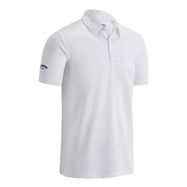 Bright White - Front - Callaway Mens Swing Tech Solid Colour Polo Shirt