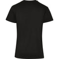 Black - Side - Build Your Brand Unisex Adults Premium Combed Jersey T-Shirt