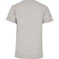 Heather Grey - Side - Build Your Brand Unisex Adults Premium Combed Jersey T-Shirt