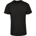 Black - Front - Build Your Brand Unisex Adults Premium Combed Jersey T-Shirt