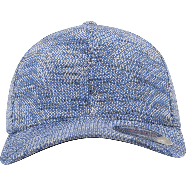 Blue - Back - Flexfit by Yupoong Jacquard Knit Cap