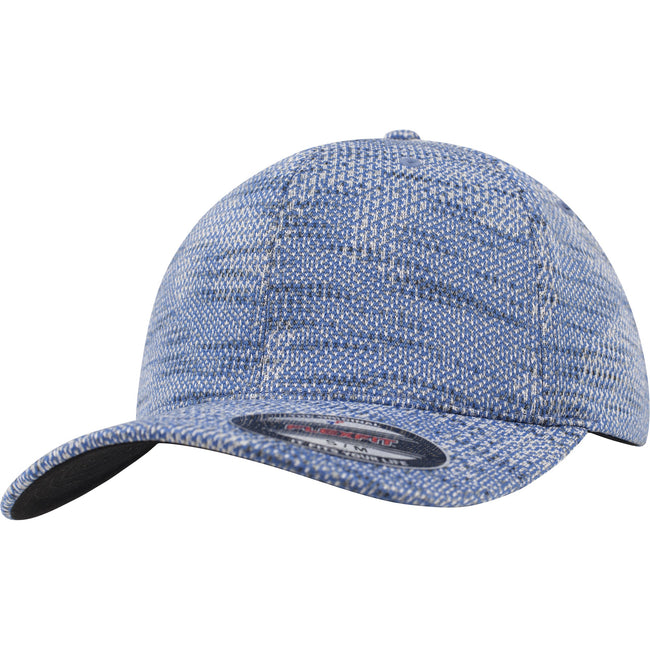 Blue - Front - Flexfit by Yupoong Jacquard Knit Cap