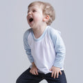 White-Pale Blue - Back - Larkwood Baby Long Sleeved Baseball T-Shirt