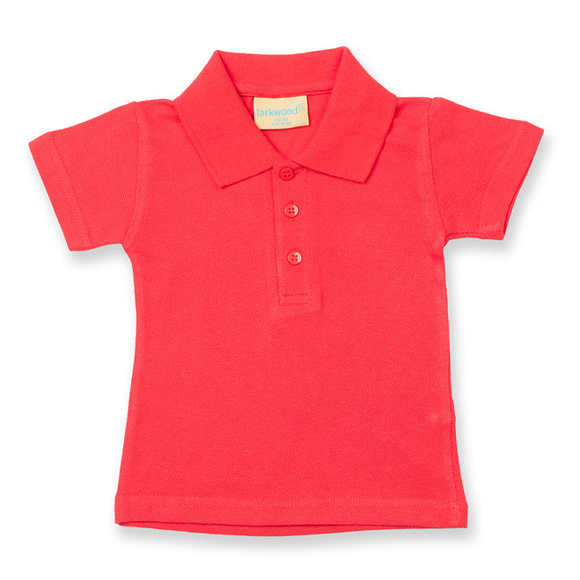 Pale Pink - Front - Larkwood Baby-Toddler Unisex Polo Shirt