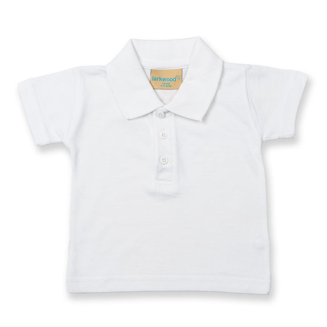 White - Front - Larkwood Baby-Toddler Unisex Polo Shirt