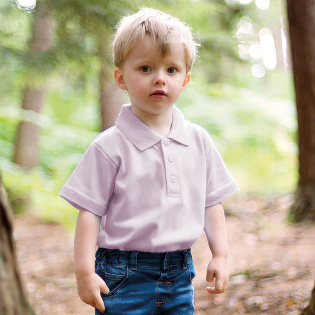 Pale Pink - Back - Larkwood Baby-Toddler Unisex Polo Shirt