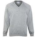 Oxford Grey - Front - Maddins Childrens Unisex Coloursure V-Neck Sweatshirt - Schoolwear