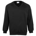 Black - Front - Maddins Childrens Unisex Coloursure V-Neck Sweatshirt - Schoolwear