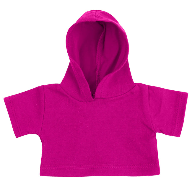 Fuchsia - Front - Mumbles Teddy Bear Hoodie Accessory