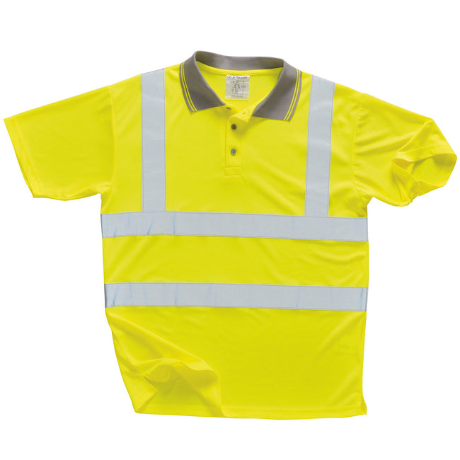 Yellow - Front - Portwest Unisex Hi Vis Polo Shirt - Workwear - Safetywear