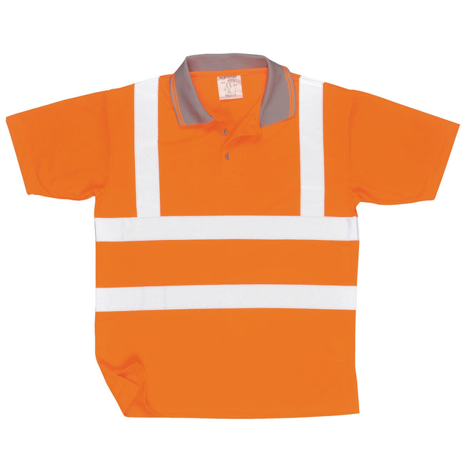 Orange - Front - Portwest Unisex Hi Vis Polo Shirt - Workwear - Safetywear