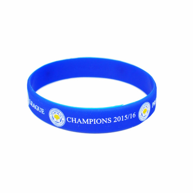 Blue - Front - Leicester City FC Official Champions Wristband