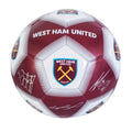 White-Claret - Front - West Ham United FC Official Signature Design Football