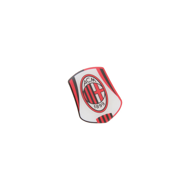 White-Black-Red - Front - AC Milan Official Metal Football Crest Pin Badge