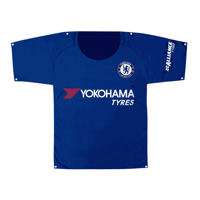 Blue - Front - Chelsea FC Kit Shaped Banner-Body Flag