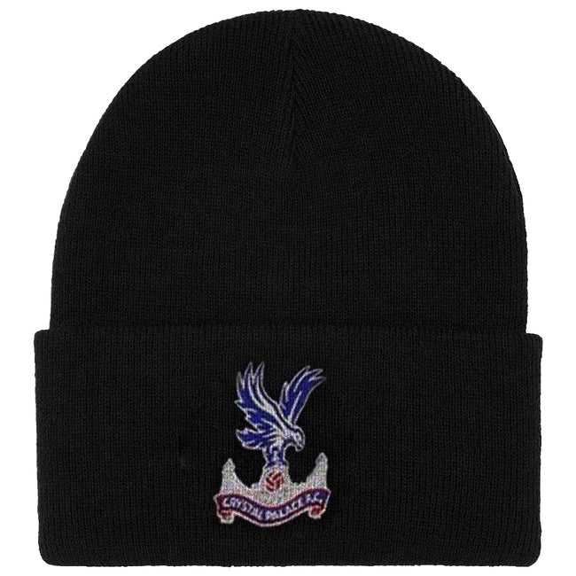 Navy - Front - Crystal Palace FC Official Adults Unisex Cuff Knitted Winter Hat