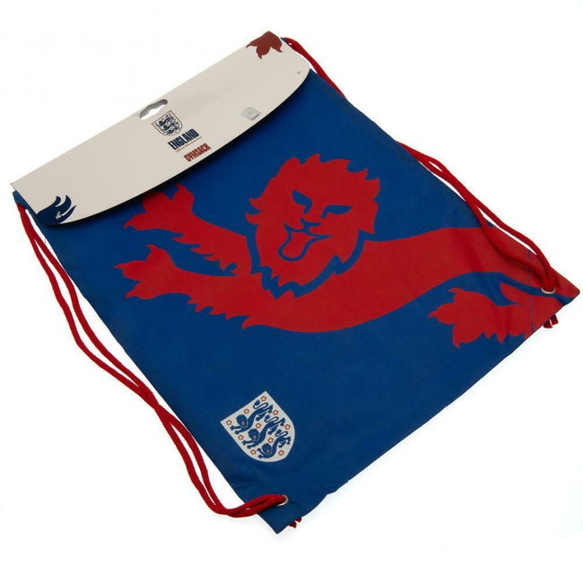 Blue-Red - Back - England FA Crest Drawstring Bag