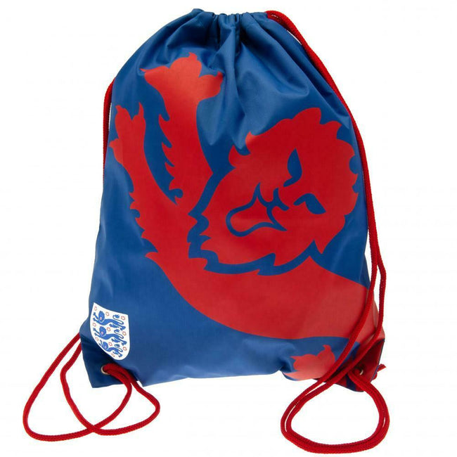 Blue-Red - Front - England FA Crest Drawstring Bag