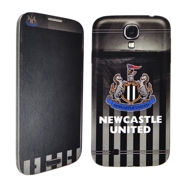 Black-White - Front - Newcastle United FC Official Samsung Galaxy S4 Football Crest Phone Skin