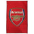 Red - One Size - Front - Arsenal FC Official Printed Football Crest Rug-Floor Mat
