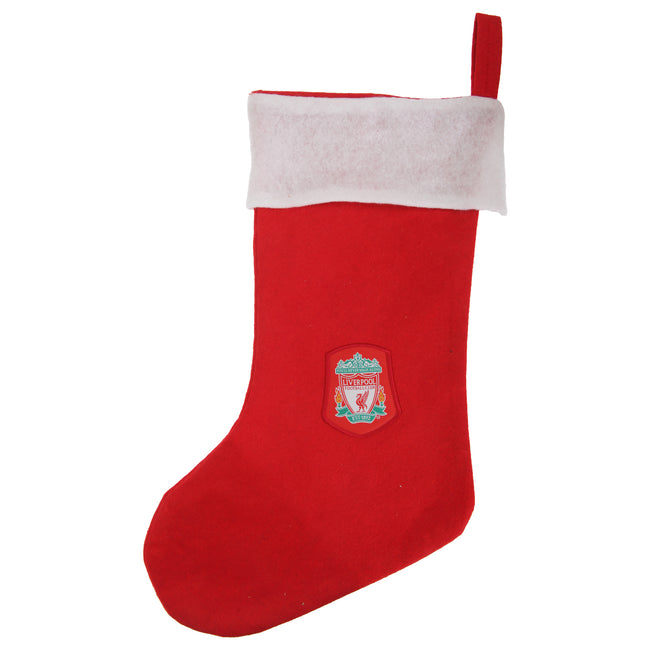 Red-White - Front - Liverpool FC Official Football Crest Christmas Stocking