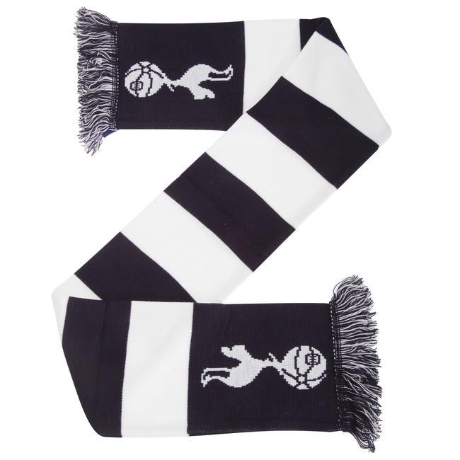 White-Navy - Front - Tottenham Hotspur FC Official Football Crest Bar Scarf