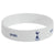 White - Front - Tottenham Hotspur FC Official Single Rubber Football Crest Wristband