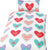 Multicoloured - Front - Hearts Childrens-Girls Single Duvet Cover Bedding Set