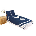 Navy-White - Front - Tottenham Hotspur FC Official Pulse Design Reversible Duvet And Pillowcase Set