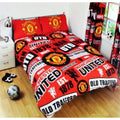 Multicoloured - Front - Manchester United FC Patch Duvet Set
