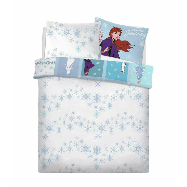 Multicoloured - Back - Frozen II Patchwork Duvet Cover Set