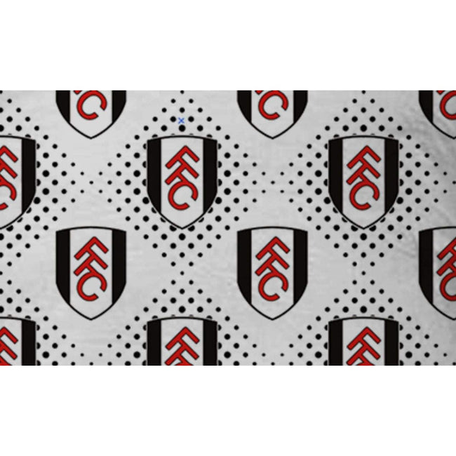 Black-White-Red - Side - Fulham FC Diamond Duvet Cover Set
