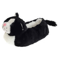 Black-White - Front - SlumberzzZ Childrens-Kids Fleece Lined Cat Slippers